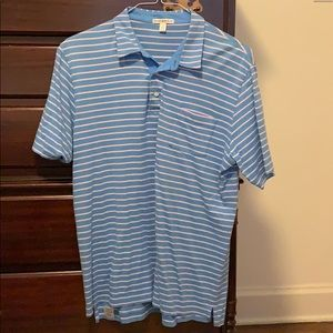 Blue striped Peter Millar polo